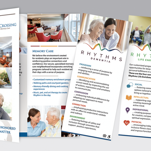 Trifold for Heritage Crossing Senior Living