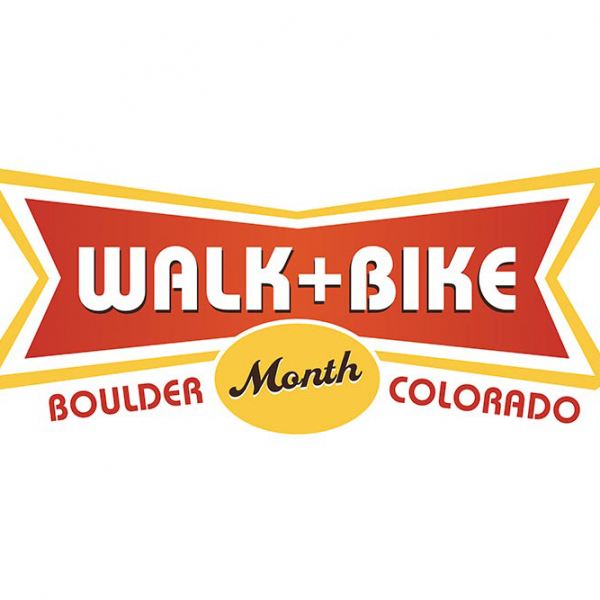 Logo for Boulder Walk and Bike Month